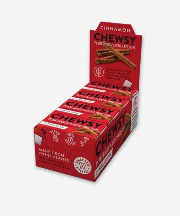 Chewsy Natural Chewing Gum Volume Box - Cinnamon