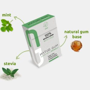 Naturgum 100% natural chewing gum Stevia