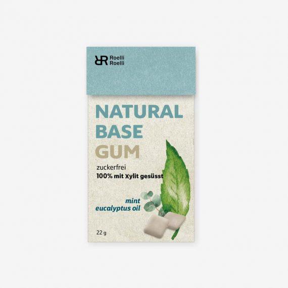 Roelli Roelli Natural Chewing Gum Mint Eucalyptus