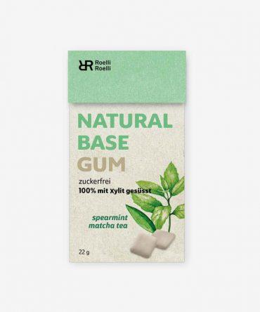Roelli Roelli Natural Chewing Gum Spearmint Matcha Tea