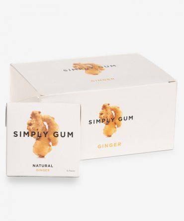 Simply Gum Gember Kauwgom Mega Box