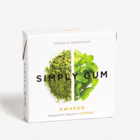 Simply gum awaken chewing gum