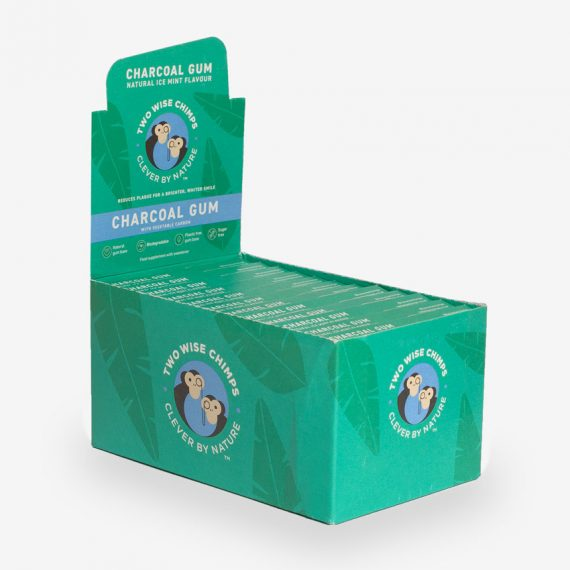 charcoal kauwom chewing gum